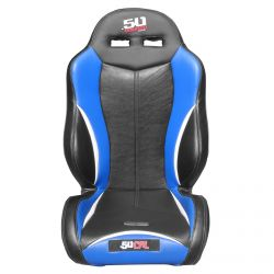 50 Caliber Racing Off Road Suspension Seats with Harness Slots - Blue