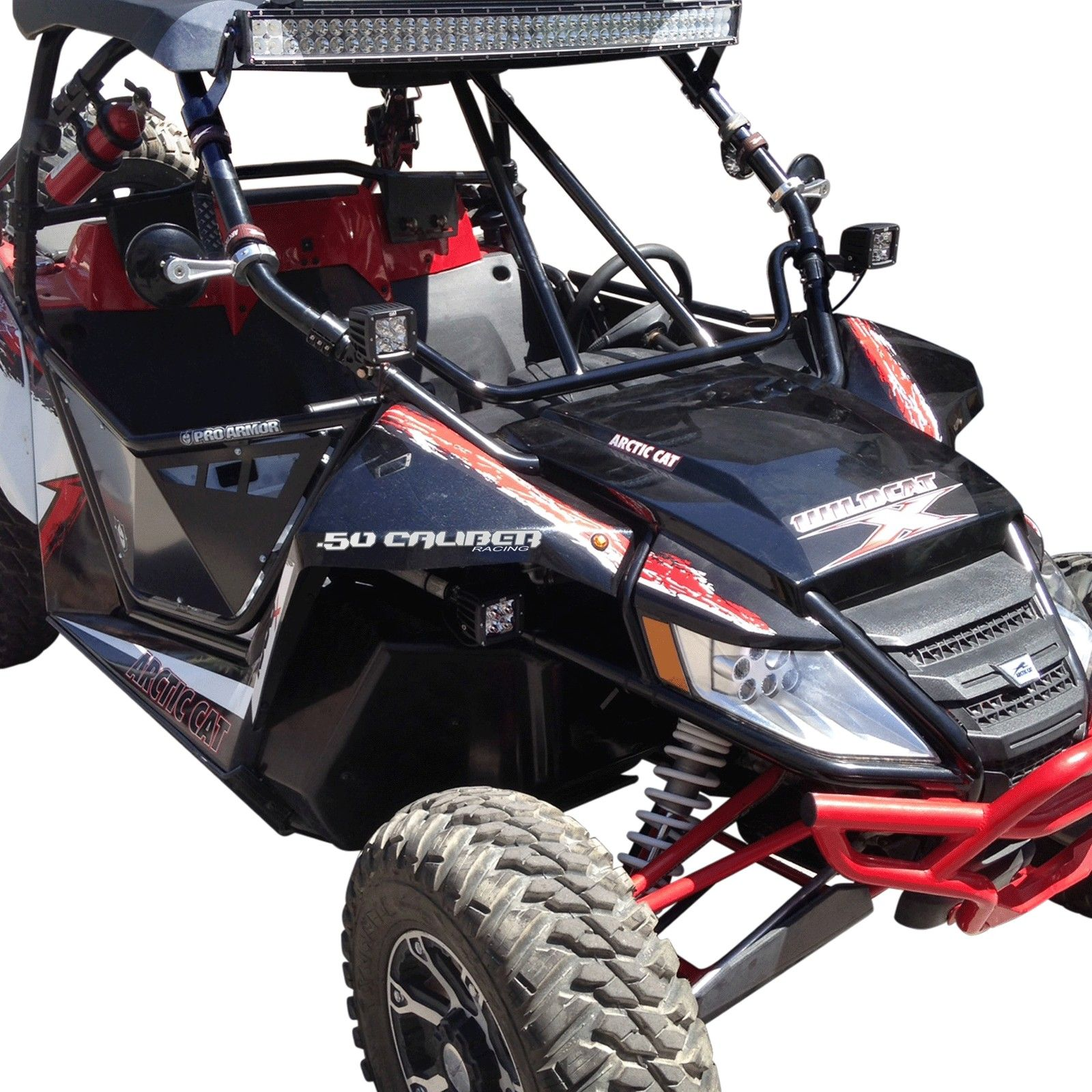 50 caliber racing clamp on dash intrusion v bar for factory arctic cat wildcat roll cage. Black Bedroom Furniture Sets. Home Design Ideas