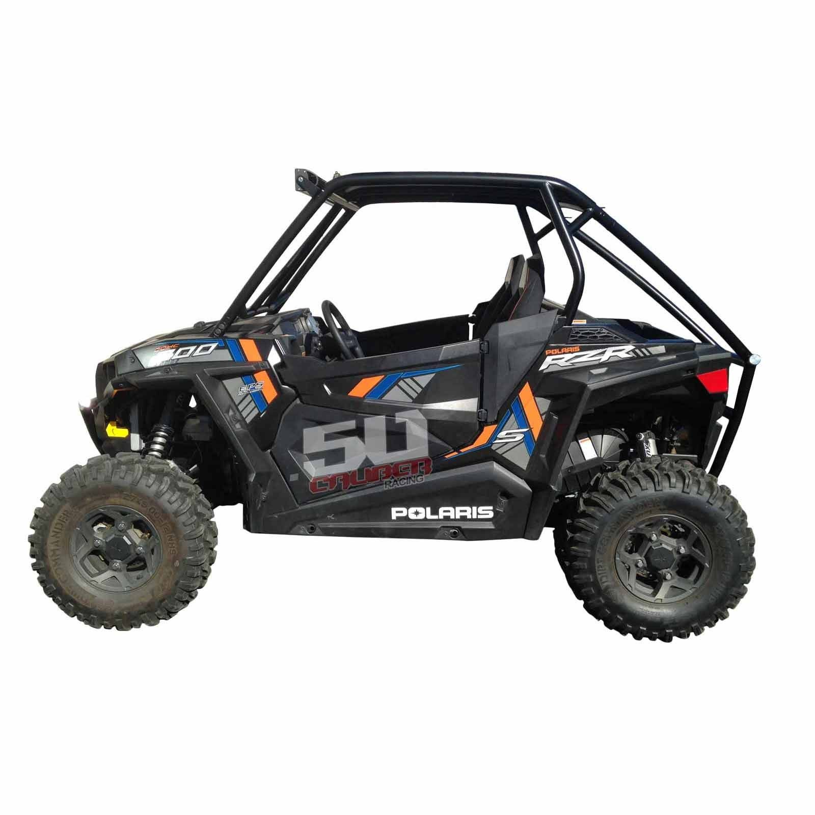 polaris rzr s 900 pro race roll cage full roof light bar. Black Bedroom Furniture Sets. Home Design Ideas