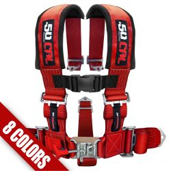 "50 Caliber Racing 5 Point Safety Harness - 2"" Wide Straps & Antisubmarine Crotch Strap - Many colors available"