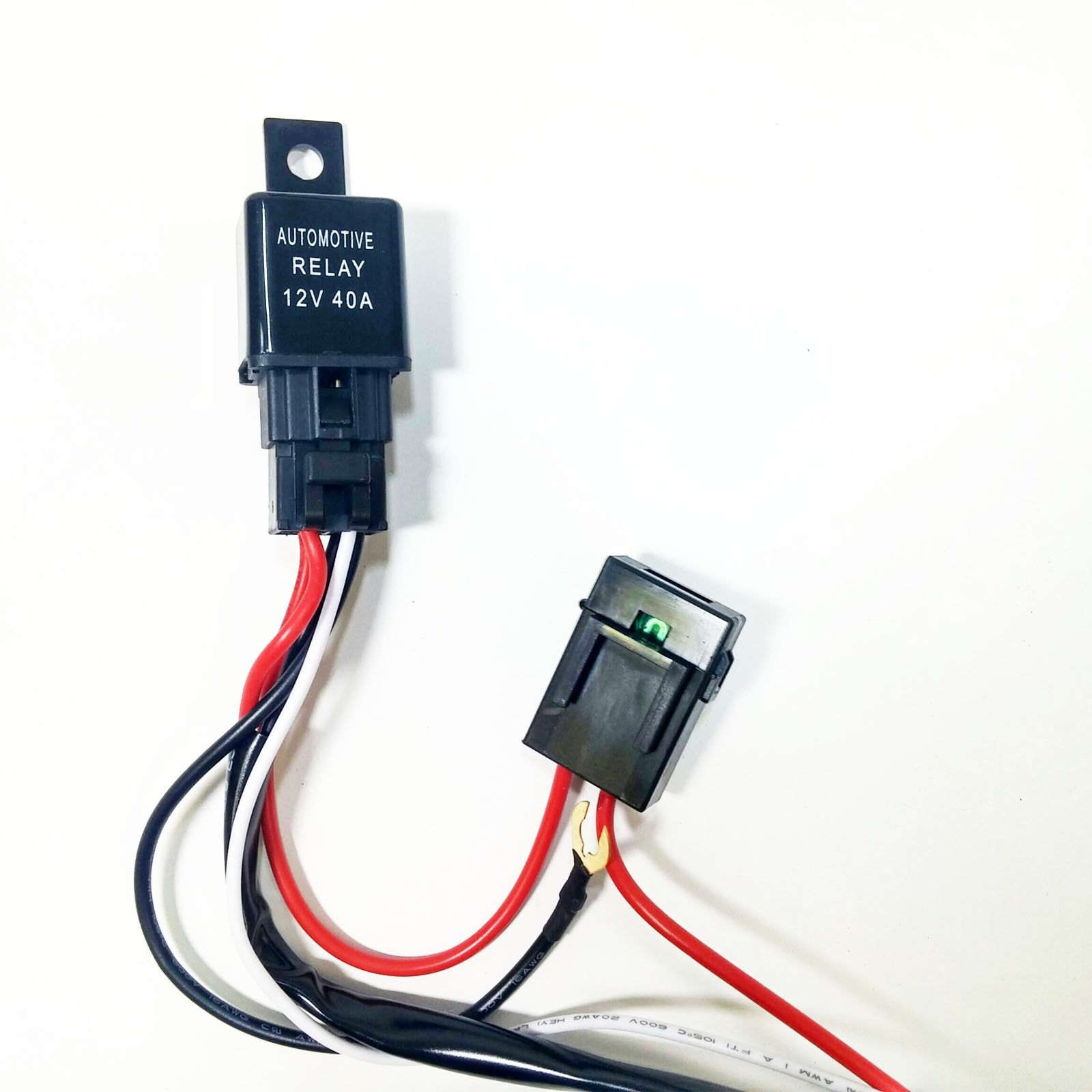 universal light bar 12v wire harness kit with 40 amp relay under tailgate led light bar wiring diagram