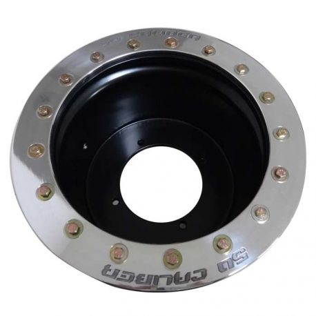 50 Caliber Racing Beadlock Wheel 12x7, .190 Thick - 4x110 Bolt pattern - 4/3 Offset - Black Powdercoat