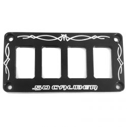 50 Caliber Racing Universal CNC Billet Aluminum 4 Switch Dash Panel
