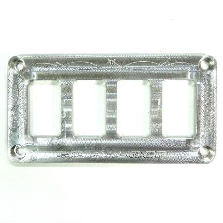 50 Caliber Racing Universal CNC Billet Aluminum 4 Switch Dash Panel
