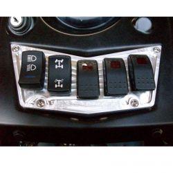 5 Switch Dash Panel Silver