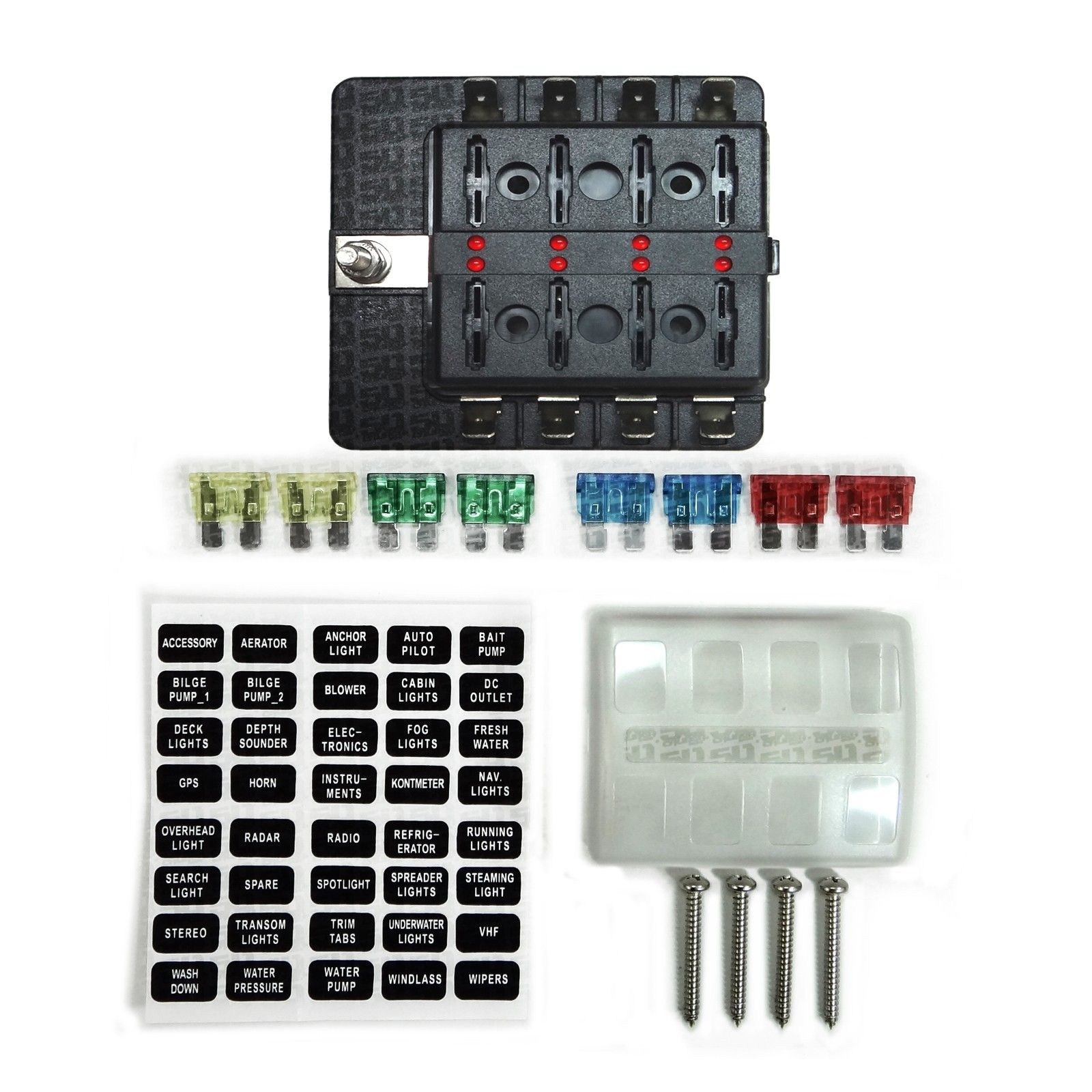 universal 8 way covered 12v circuit blade fuse box with custom fuse box custom fuse box custom fuse box custom fuse box