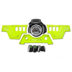 Lime Squeeze 6061 CNC Billet 6 Switch Dash Panel for RZR XP1000 - 3 Piece with 4 Additional Rocker Switches Included