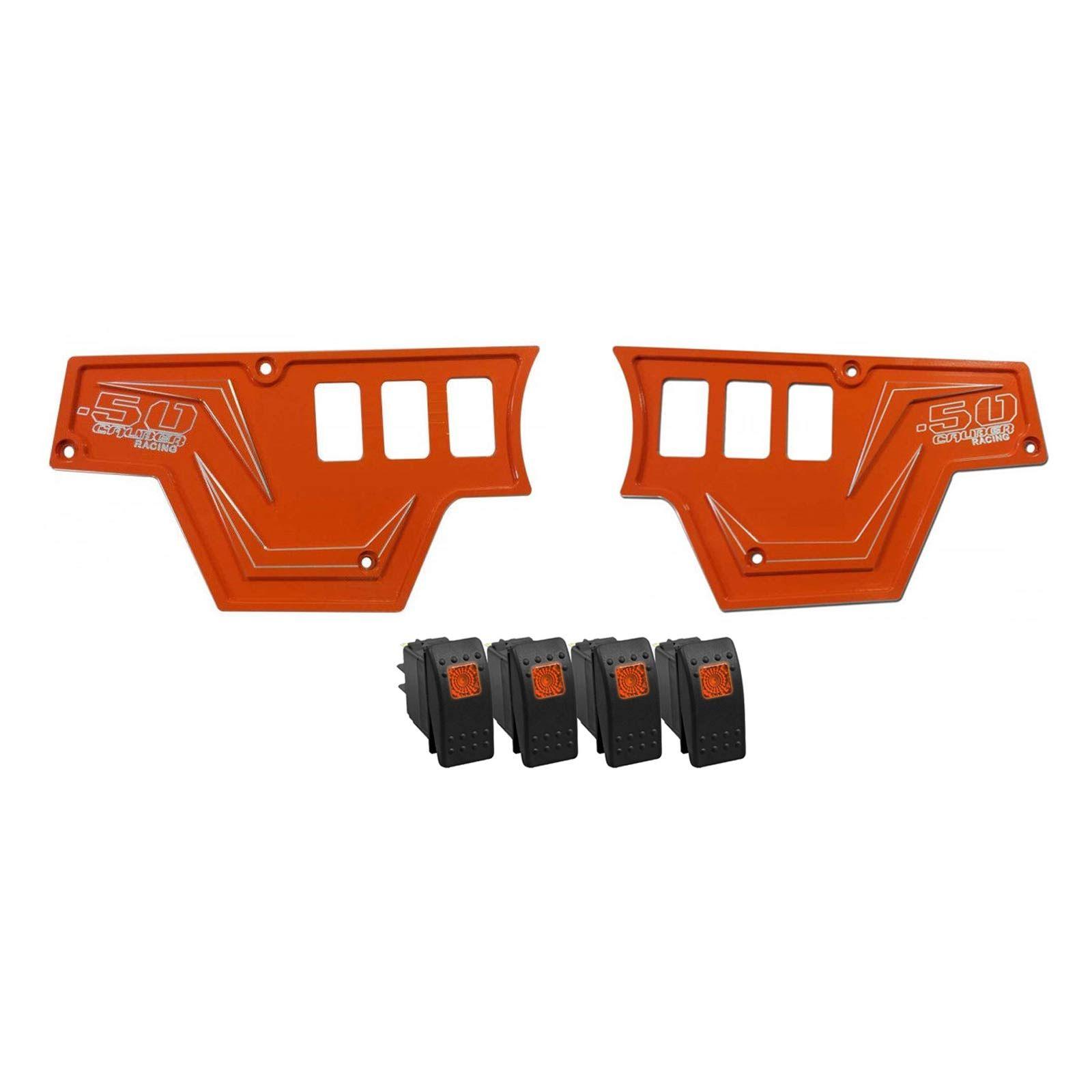 Orange Polaris RZR XP 1000 Left Side 3 Switch Dash Panel 50 Caliber Racing CNC
