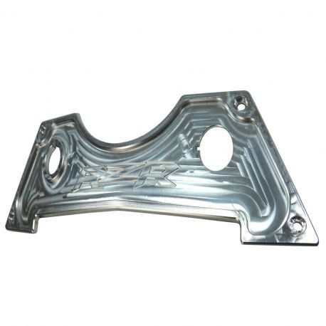 Raw Silver CNC Billet Center Dash Panel for RZR XP1000