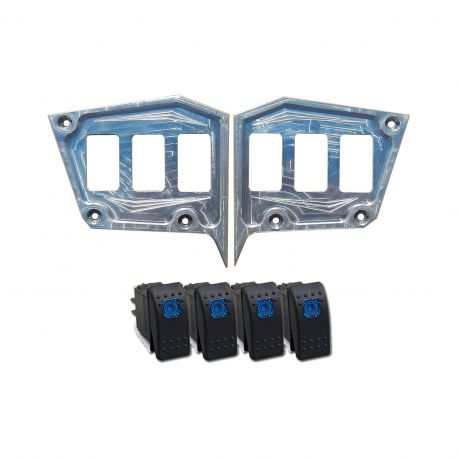 "Custom 2 piece CNC Billet Aluminum Dash panel - Polaris 1st Gen 4.3"" GPS RZR XP 1000, S 900,Trail & XC Raw Silver"