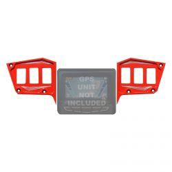 "2 Pc CNC Billet Aluminum Dash panel - Polaris 1st Gen 4.3"" GPS equipped RZR XP 1000, S 900 Turbo Havasu Red"