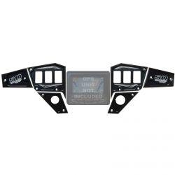 """6 Pc CNC Billet Aluminum Dash panel - Polaris 1st Gen 4.3"""" GPS equipped RZR XP 1000, S 900 Turbo Stealth Black"""
