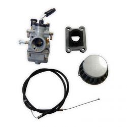 50 Caliber Racing Complete Replacement Carburetor and Intake Kit for KTM 50cc Pit Bikes 2002-2019