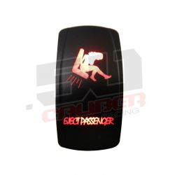 "Waterproof On/Off Rocker Switch Sexy Design ""Eject Passenger"" with Red LED Illumination"