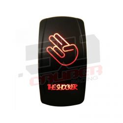 "Waterproof On/Off Rocker Switch Sexy Design ""Shocker"" with Red LED Illumination"