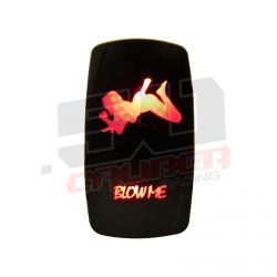 """Blow Me"" On/Off Rocker Switch Sexy Design Waterproof with RED LED Illumination"