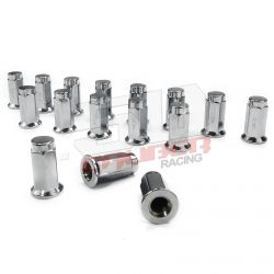 Flat Lug Nuts 12x1.5 Chrome Plated - XP1000 General Turbo