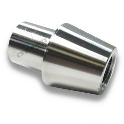 "Chromoly Tapered Bung - 1.75"" OD .095 & .120 Wall Round Tube - 3/4-16 Threaded Through"