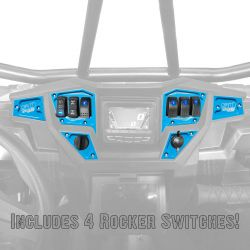 Custom 6 piece CNC Billet Aluminum Dash panel - Polaris Interactive Digital Display (GPS) equipped RZR XP 1000, S 900, 900 Trail