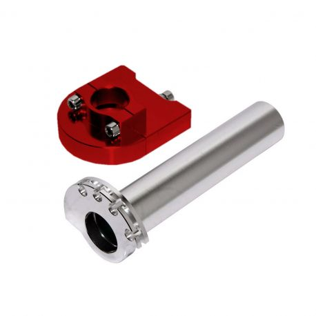 Billet Twist Throttle for all Pit Bikes and Dirt Bikes Red Anodized