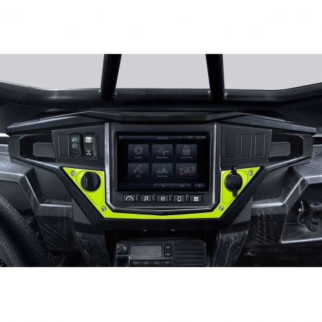 Polaris Ride Command Center Dash Panel - Lime Squeeze - Shown Installed