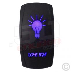 """Illuminated 50 Caliber Racing On/Off Rocker Switch with laser etched design - """"Dome Light"""""""