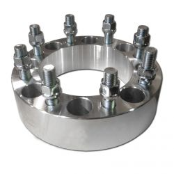 """50 Caliber Racing Billet Aluminum Wheel Spacers - 8x6.5"""" (139.7mm) Bolt Pattern, 9/16 Studs - for Ford Chevy Dodge Pickups with"""