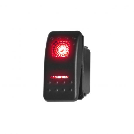 50 Caliber Racing OFF/ON/ON Waterproof Rocker Switch, LED Backlit Available in Red Blue Green & Orange