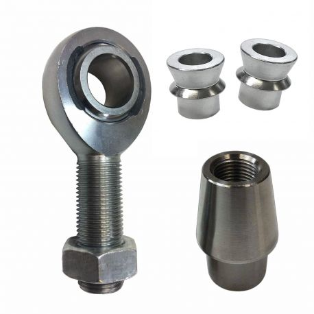 "Rod End Kit - Single Joint - 3/4-16 x 3/4 bore Chromoly Heim - 1.5"" OD Tubing - With Optional Misalignment Spacers"