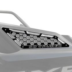 Billet Air Intake Grille Bezels for RZR PRO XP - Black Powdercoat Finish