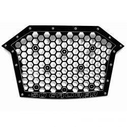 Custom Billet Grille RZR PRO XP - Black Powdercoat finish