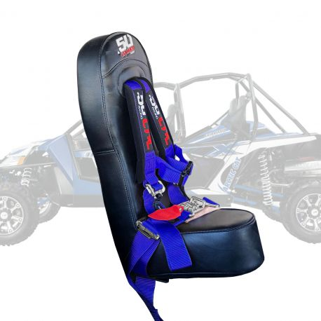 """50 Caliber Racing Bump Seat Combo for Arctic Cat Wildcat with 2"""" Safety Harness - Blue"""