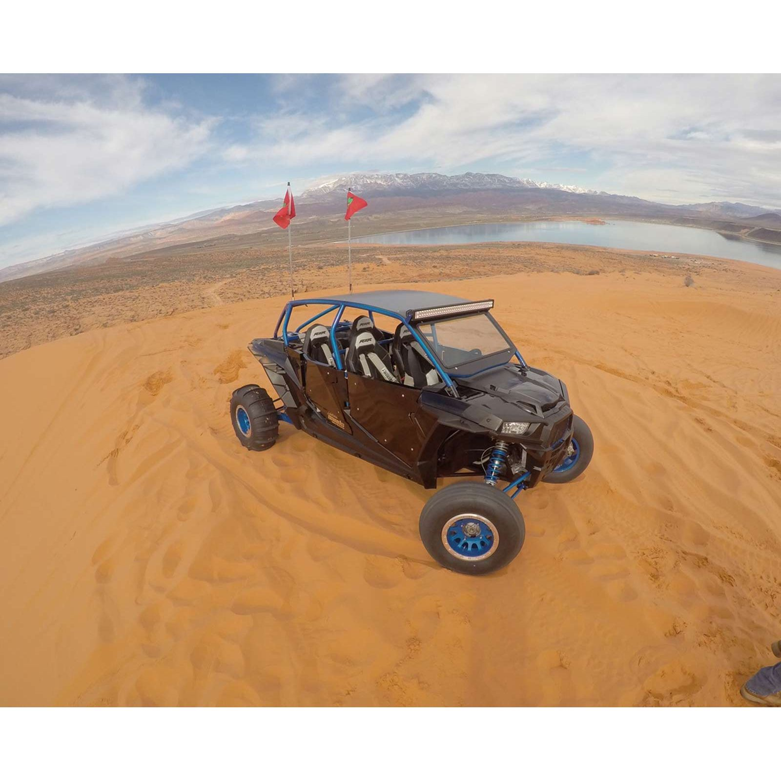 Polaris RZR4 XP1000 PRO RACE Roll Cage With Roof And Light
