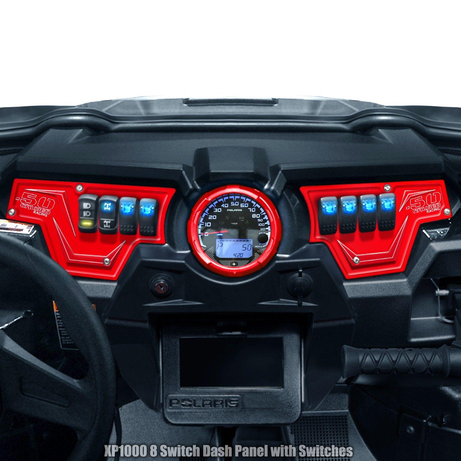 Polaris Xp1000 Cnc Billet Aluminum 8 Switch Dash Panel