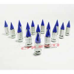 Tapered Splined Lug Nuts Chrome with Removable Spike  - 12 x 1.25mm Thread Pitch