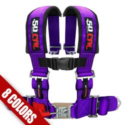 "50 Caliber Racing Universal 4 Point Safety Harness with 3"" Wide Straps Available in Many Colors"