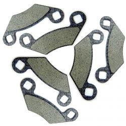 50 Caliber Racing 6 Piece Semi Metallic Brake Pads with Kevlar Fibers for Polaris Sportsman 550 800 1000 ATVs