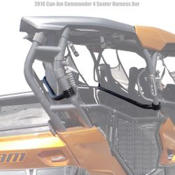 50 Caliber Racing Roll Cage Harness Bar for Can-Am Commander 4 Seat UTV