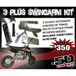 CRF50 Extended Swing Arm Kit 2