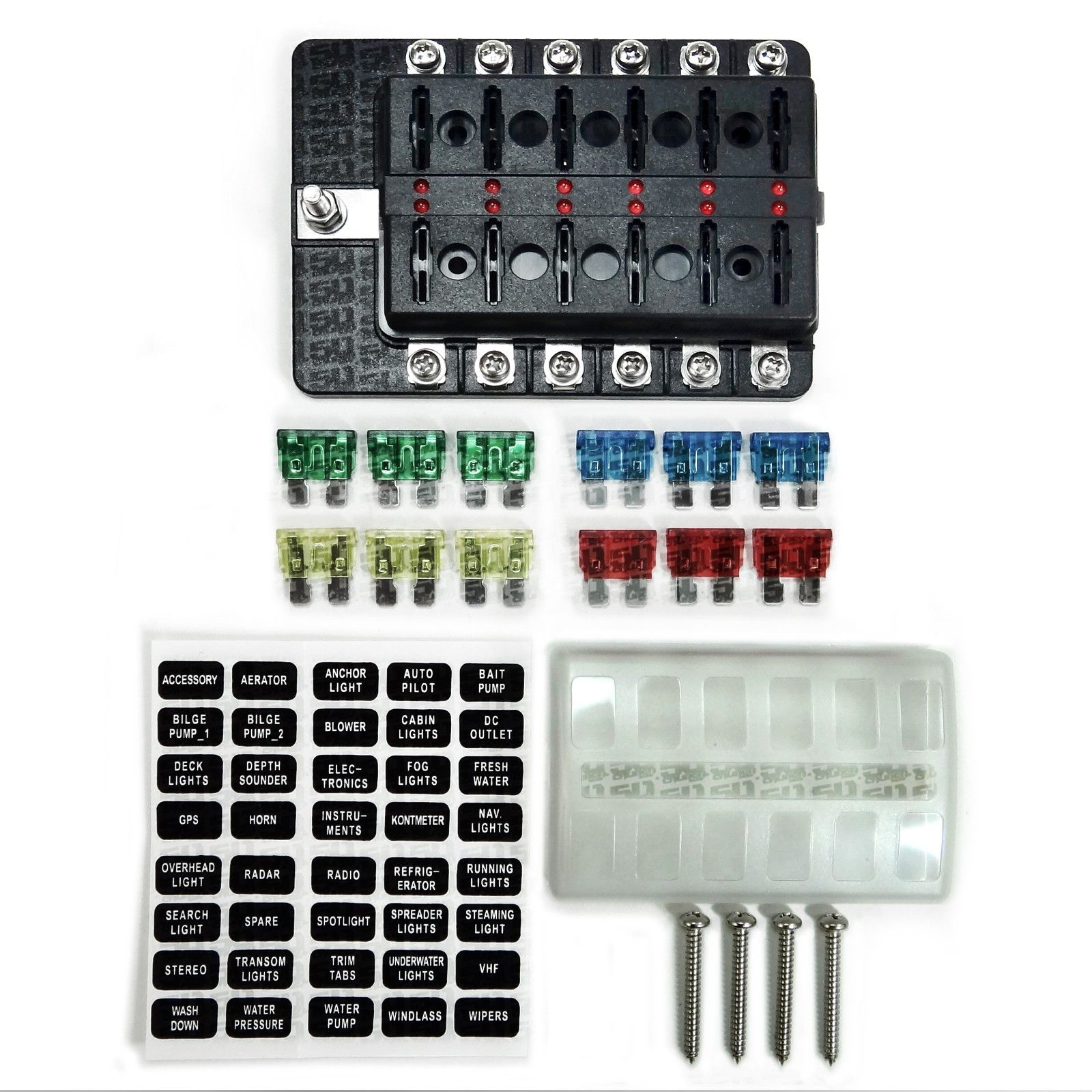 Wheel Spacers For Trucks >> Universal 12 Way Covered 12V Circuit Blade Fuse Box with ...