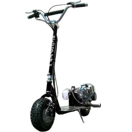 BLACK ScooterX Dirt Dog Gas Scooter