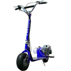 BLUE ScooterX Dirt Dog Gas Scooter