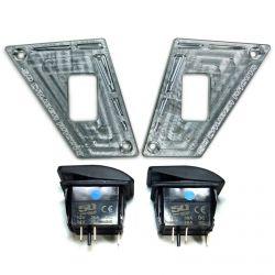 Polaris RZR 170 2 Switch Dash Panel Kit Raw Silver