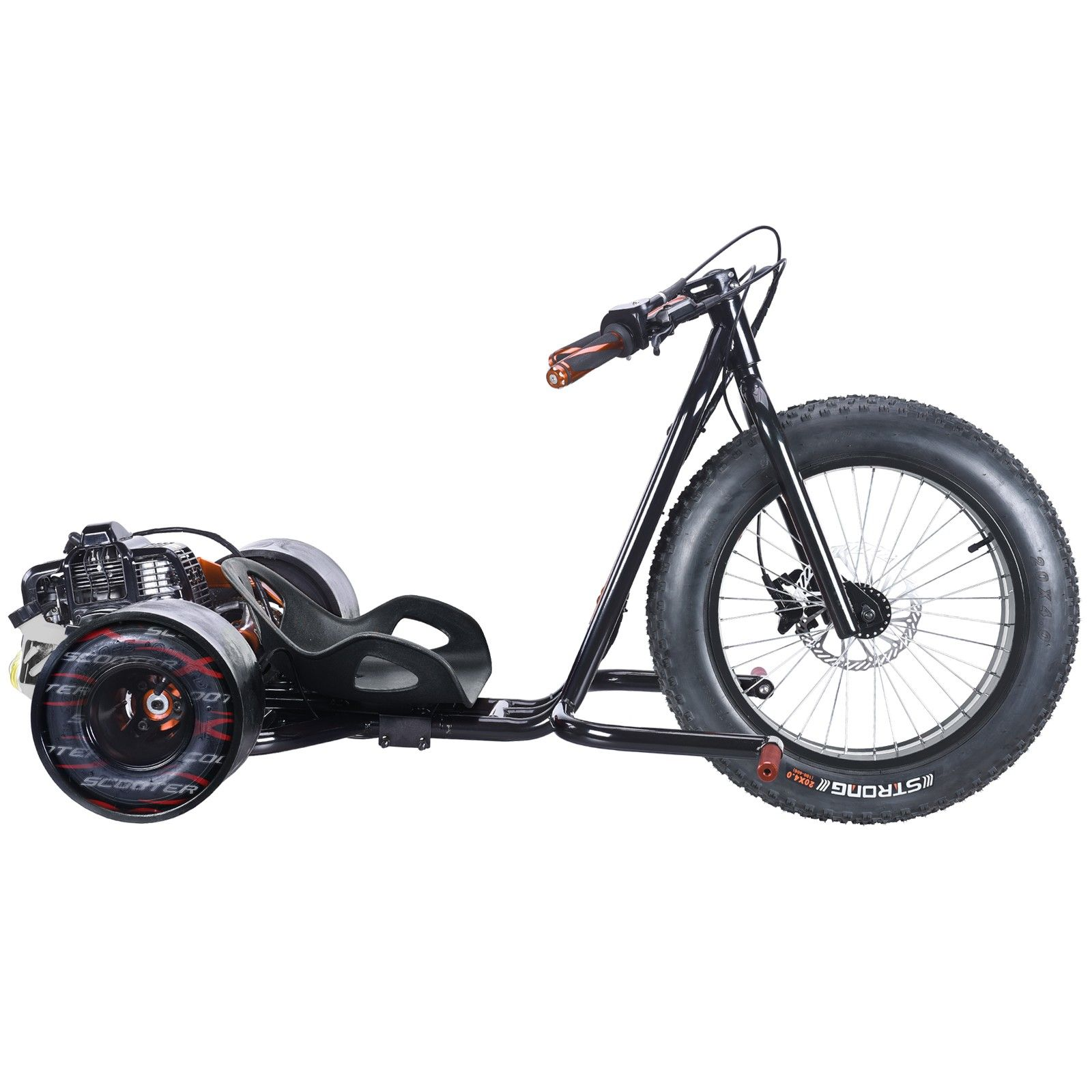 49cc gas powered drifting sliding drift trike by scooterx. Black Bedroom Furniture Sets. Home Design Ideas