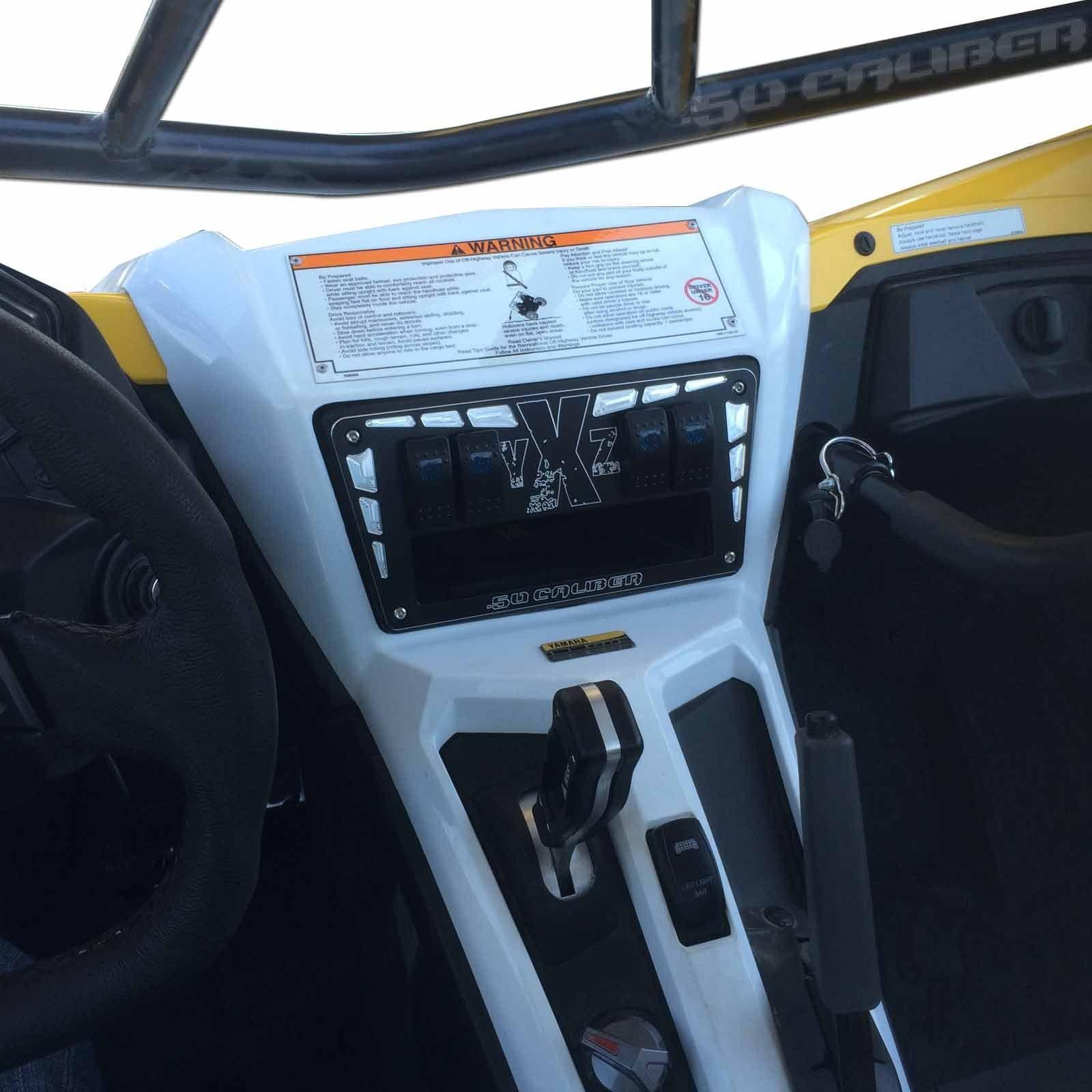 Billet Cnc 4 Rocker Switch Dash Panel Plate Bezel Yamaha