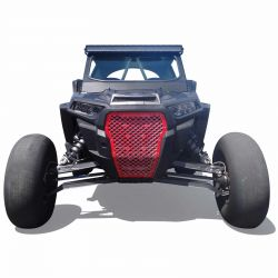 Custom Billet Grille RZR XP Turbo 2017-2018 Indy Red