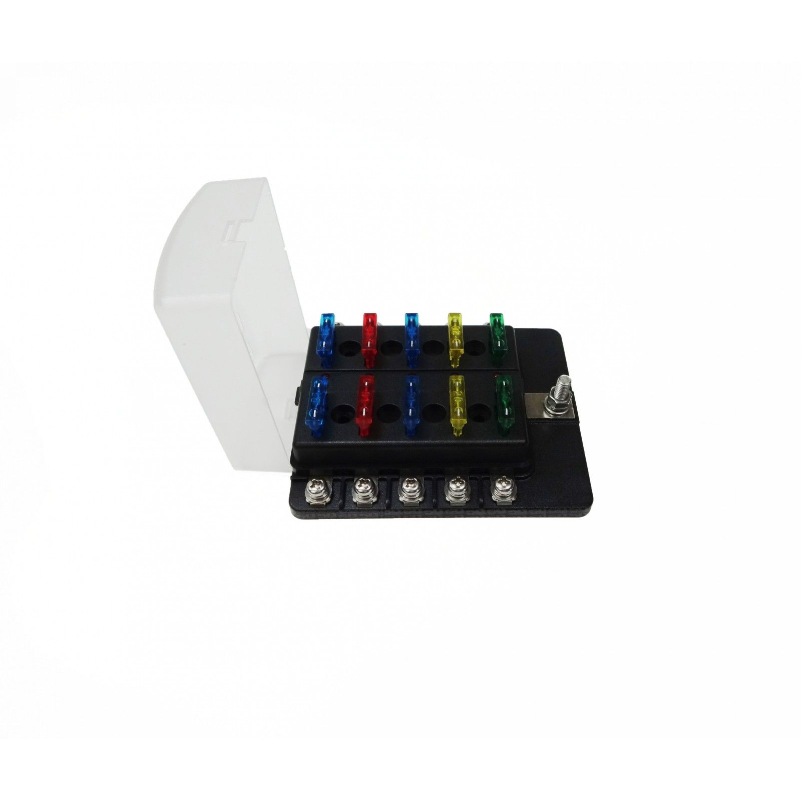 12v Fuse Box Wire Connectors Electrical Wiring Diagrams Universal 10 Way Covered Circuit Blade Distribution Block