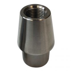 """Chromoly Weld In Bung - 1.25"""" OD .095 & .120 Wall Tube -  5/8-18 Threaded Through for Rod End - Fabricate 4 Link, Tie rod etc"""