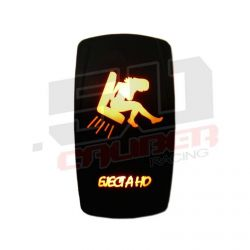 """Waterproof On/Off Rocker Switch Sexy Design """"EJect A Ho"""" with Orange LED Illumination"""