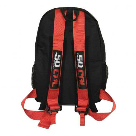 50 Caliber Racing Backpack with Padded 5 Point Safety Harness Style Straps - Red